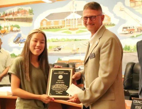 Mayor's Right Choice Award presented to Delmarva Christian senior Mattie Krieg