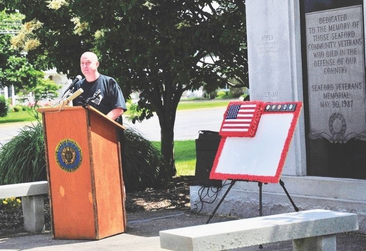 Gold Star father Jake James is guest speaker at Seaford Memorial Day ceremony